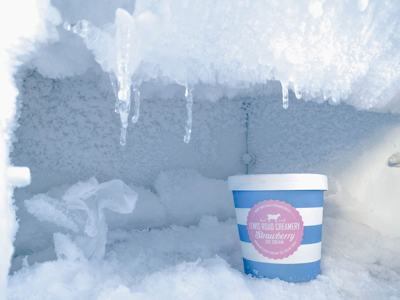 Defrost freezer before storing