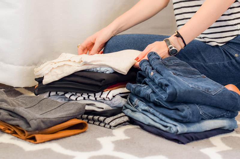 decluttering for moving items into storage