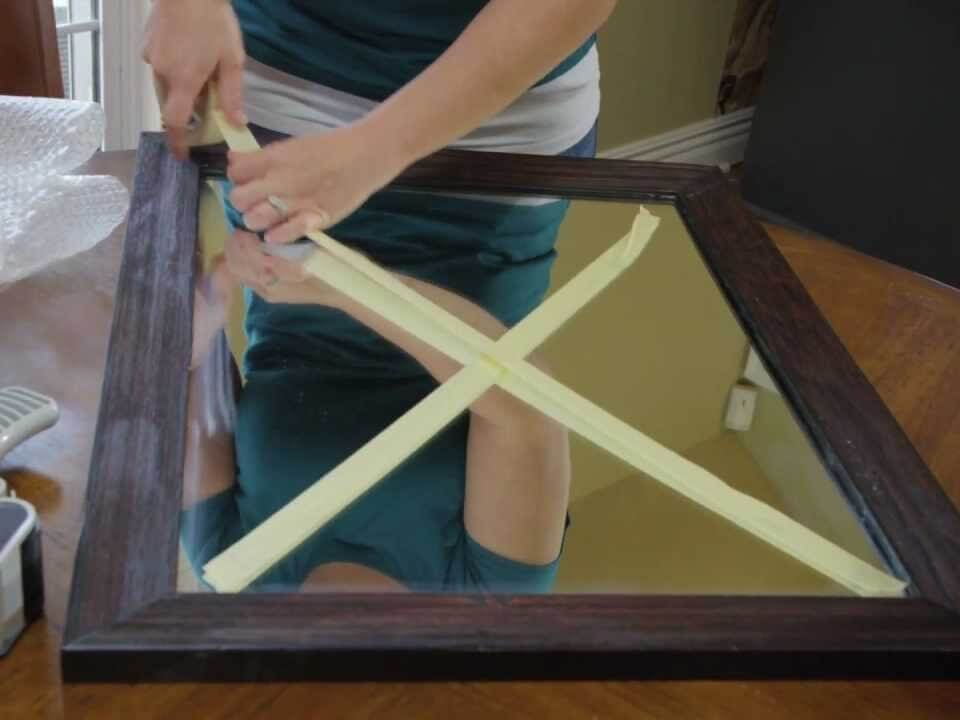 How to pack a mirror for moving